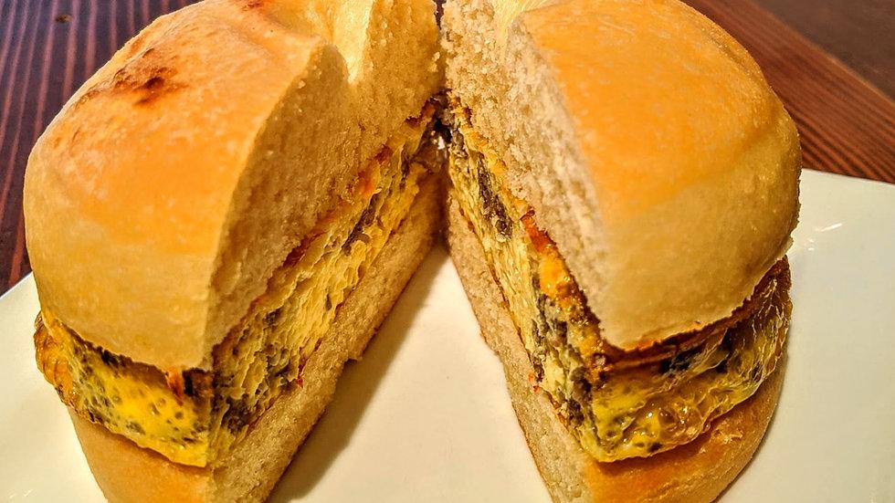 Egg Strada Donut Sandwich