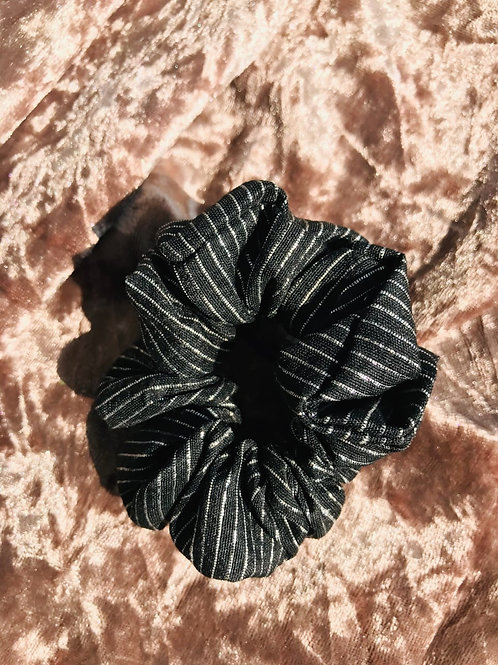 Black Silver lining | Scrunchie
