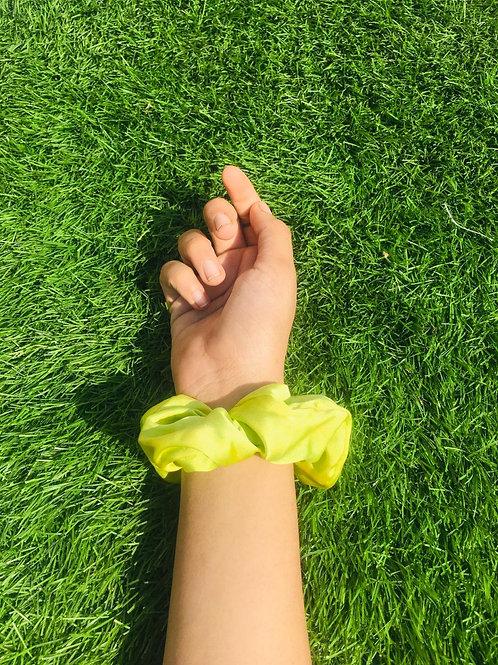 Lime Green | Satin Scrunchie