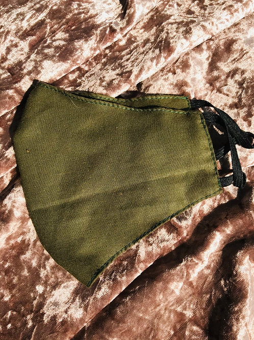 Military Green | Cotton Mask