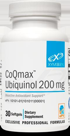CoQmax Ubiquinol 200mg 60 softgels