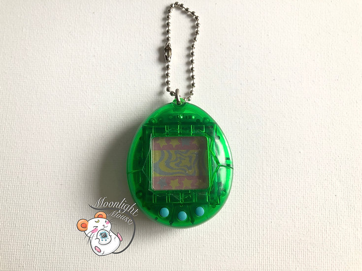 Tamagotchi Original Gen 2 P2 Transparent Clear Green Bandai Japan 1997
