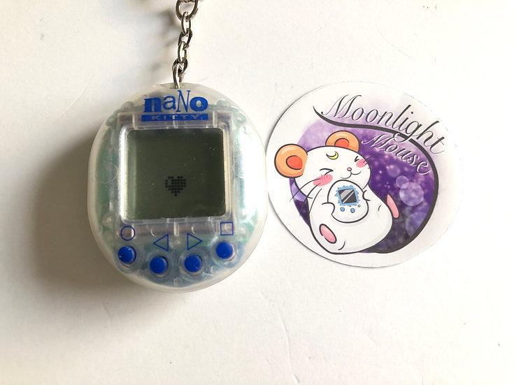 My Nano Kitty Transparent Clear White Playmates Virtual Pet 1998