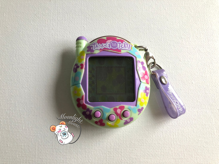 Tamagotchi Connection v3 Green Colorful Flowers English Asia 2005