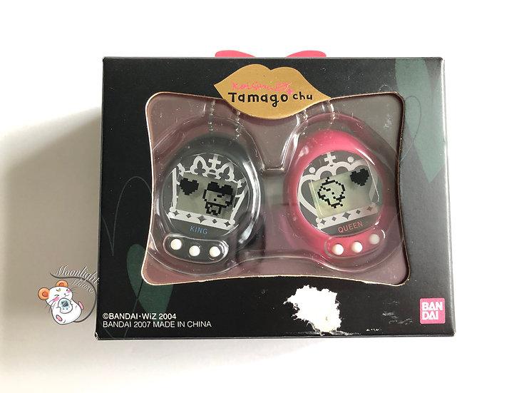 Tamagotchi Tamagochu Queen and King Pink Black Bandai Japan 2004