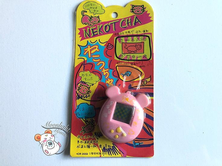Nekotcha Neko Chan Cat Pink Tamagotchi Virtual Giga Pet Japan 1998