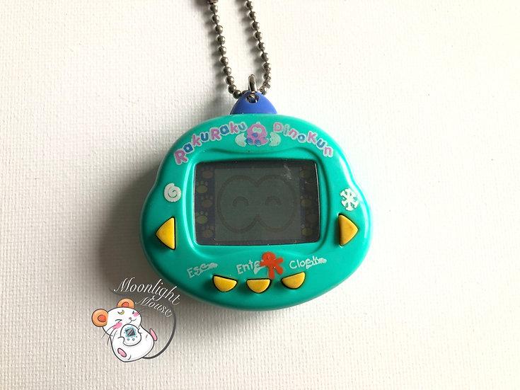 Rakuraku Dinokun Dinkie Dinko Light Blue Green Virtual Giga Pet 1997