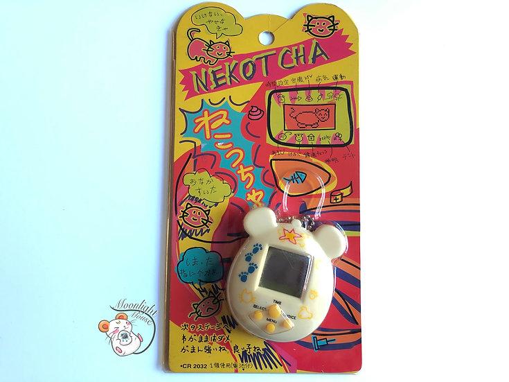 Nekotcha Neko White Chan Cat Virtual Pet Japan 1998