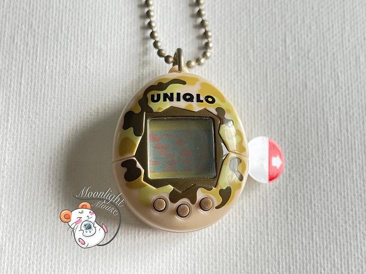 Tamagotchi Original Chibi Uniqlo Brown Camo Bandai Japan 2005