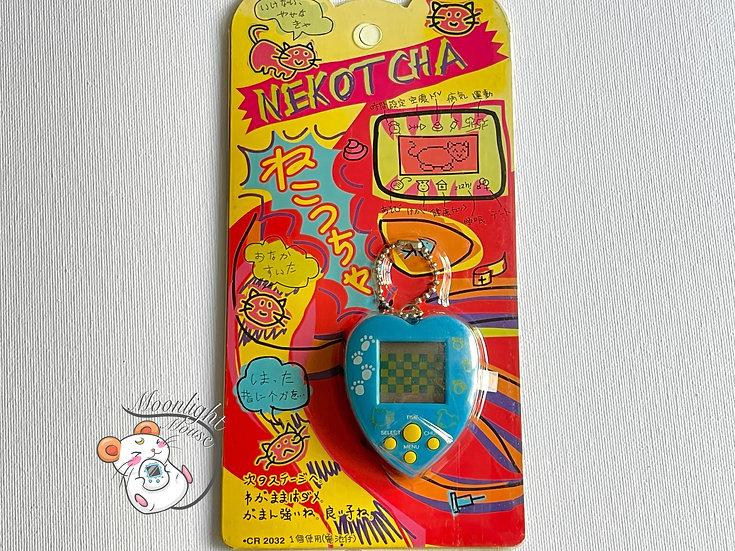 Nekotcha Neko Chan Cat Blue Tamagotchi Virtual Giga Pet Japan 1997
