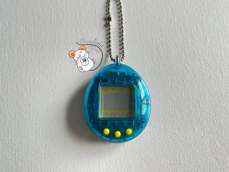 RESERVED: Tamagotchi Original Gen 1 P1 Transparent Blue Bandai Japan 1996