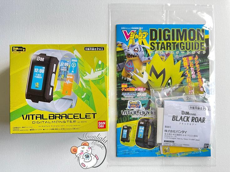 Digimon Vital Bracelet White Digital Monster Black Roar Dim Card Set