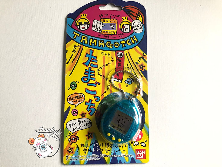 Tamagotchi Original Gen 1 P1 Transparent Blue Bandai Japan 1996