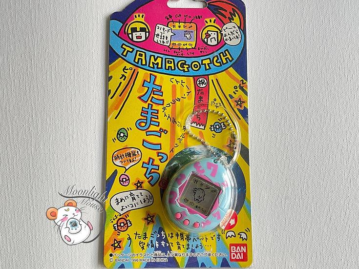 Tamagotchi Original Gen 1 P1 Blue Pink Numbers Bandai Japan 1996
