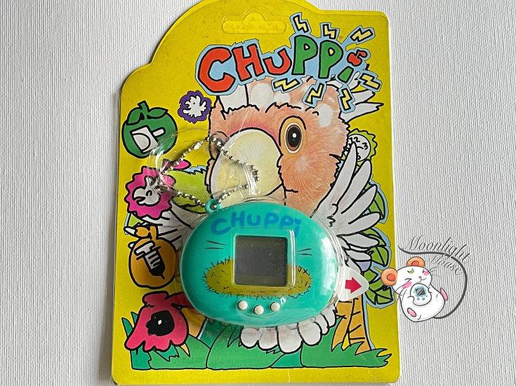 Chuppi Baby Bird Blue Tamagotchi Virtual Giga Pet 1997