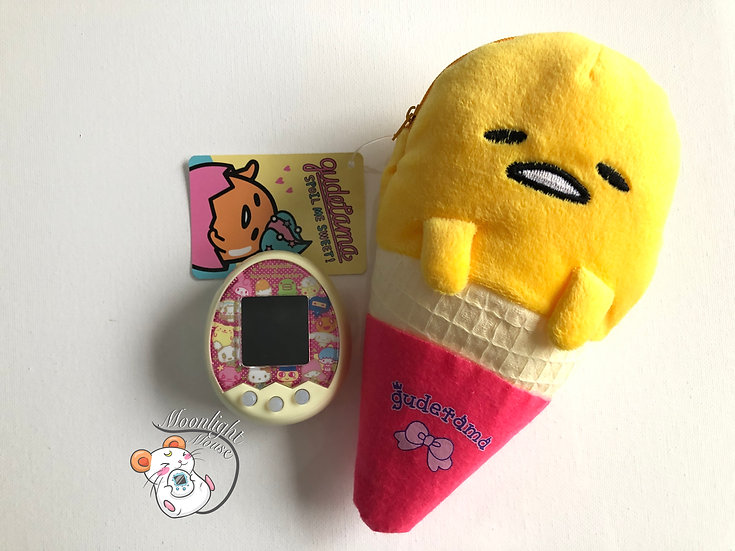 Tamagotchi P's iD L M!x Meets On Connection Gudetama Ice Cream San-x Pouch