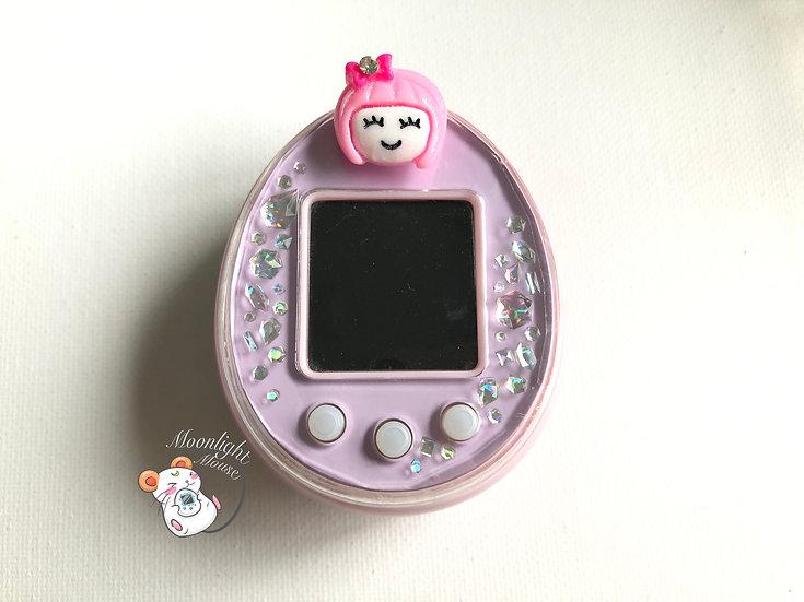 Tamagotchi P's Pink Purple English with Pink Girl Plug Bandai Japan 2012