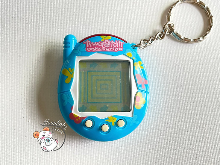 Tamagotchi Connection v3 English Blue Butterfly Shell 2005