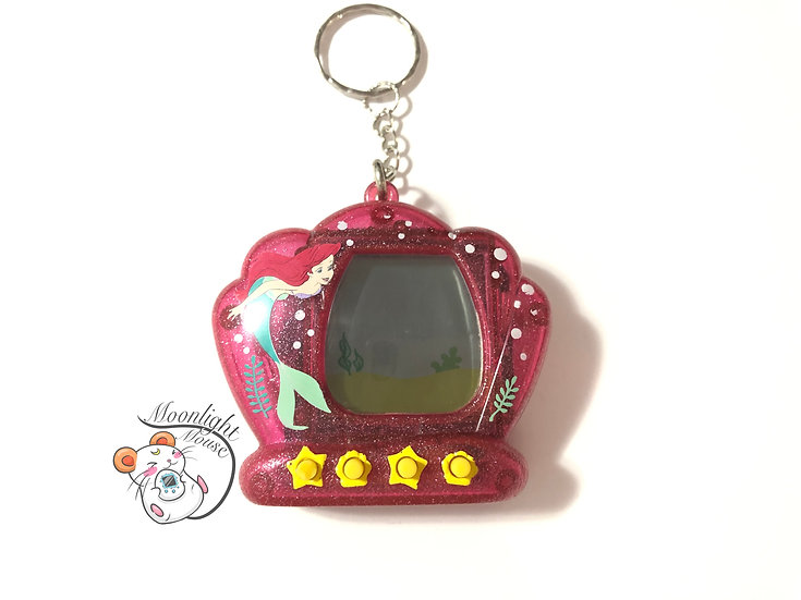 Little Mermaid Transparent Pink Tamagotchi Virtual Giga Pet 1998