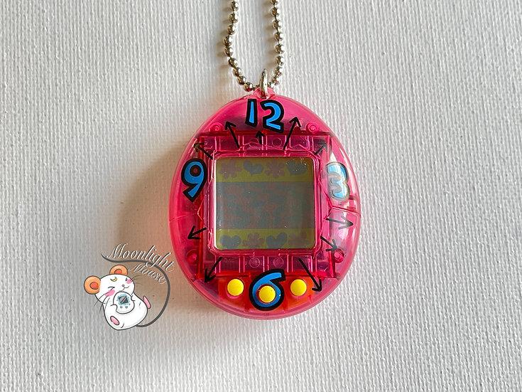 Tamagotchi Original Gen 1 P1 Transparent Pink Bandai Japan 1996