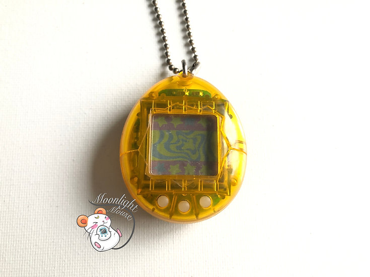 Tamagotchi Original Gen 2 P2 Transparent Clear Yellow Bandai Japan 1997