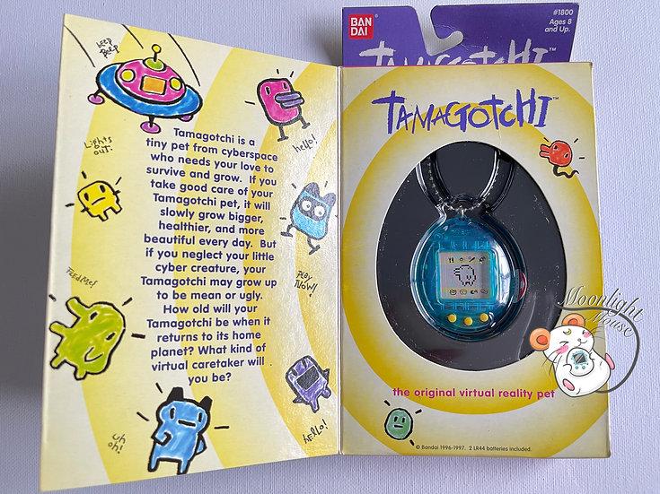 Tamagotchi Original Gen 1 P1 English Transparent Blue Shell 1997
