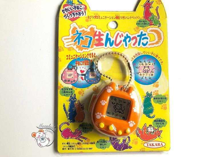Neko Cat Uniyatta Orange Takara Tomy Virtual Pet 1997