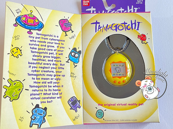 Tamagotchi Original Gen 2 P2 English Yellow Bandai 1997