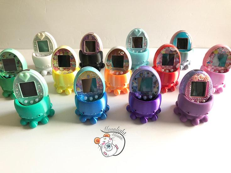 Tamagotchi P's iD L M!x Meets On Connection Rainbow Shiny Octopus Stand