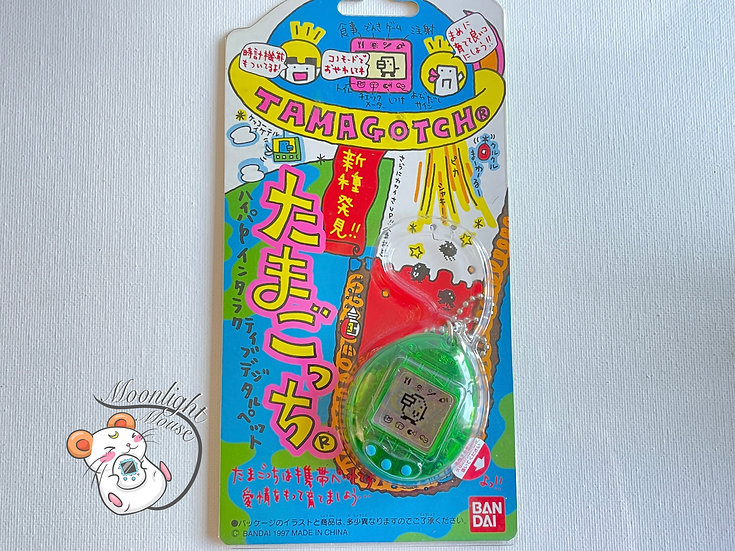 Tamagotchi Original Gen 2 P2 Transparent Green Japan 1997