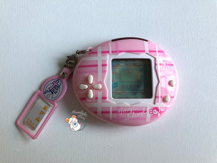 Tamagotchi School Pink Plaid White TMGC Bandai Japan 2006
