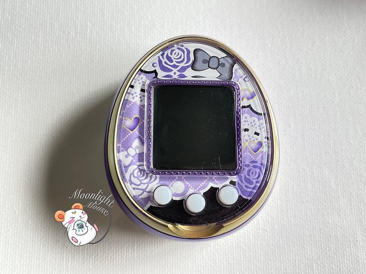 Tamagotchi 4U Purple Roses English Menu Bandai Japan 2014