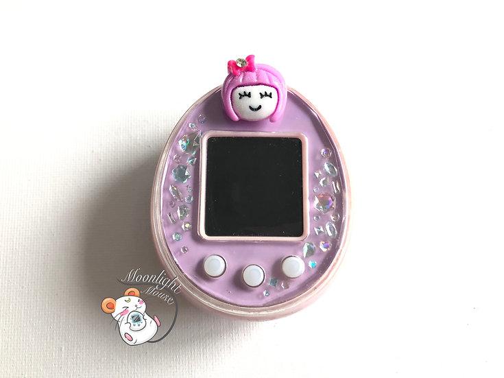 Tamagotchi P's Pink English with Purple Girl Plug Bandai Japan 2012