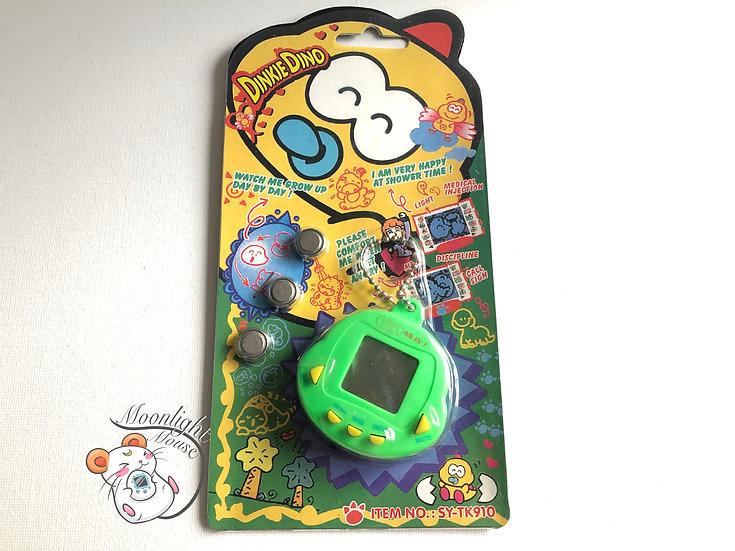 Rakuraku Dinokun Dinkie Dinko Green Tamagotchi Virtual Giga Pet Japan 1997