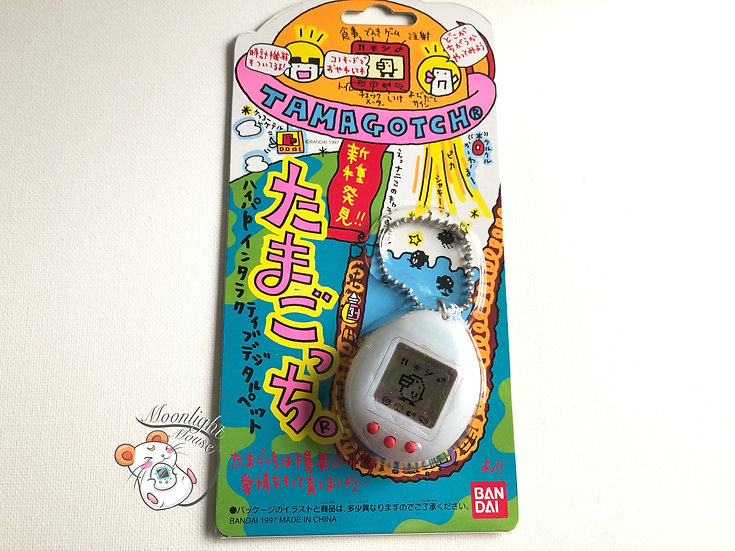 Tamagotchi Original Gen 2 P2 Transparent Clear White Bandai Japan 1997