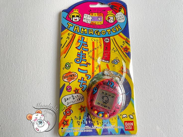 Tamagotchi Original Gen 1 P1 Transparent Pink Clock Bandai Japan 1996