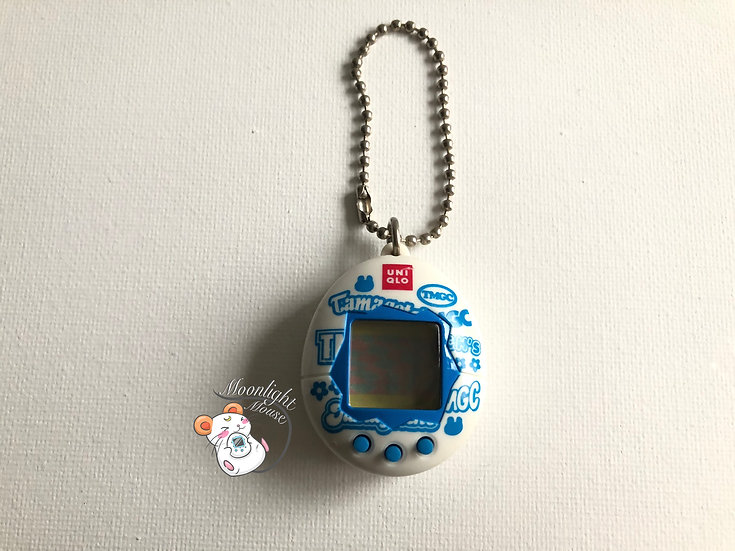 Tamagotchi Original Chibi Uniqlo Blue White Bandai Japan 2005