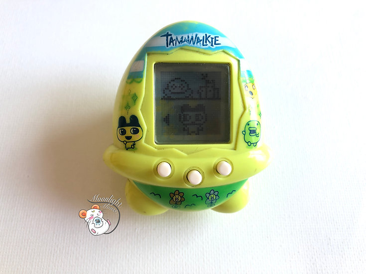 Tamagotchi Tamawalkie English Yellow Flowers Pedometer Australia Shell 2008