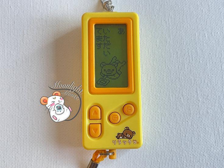 San-x Rilakkuma Yellow Diary Life Tamagotchi Virtual Pet 1997
