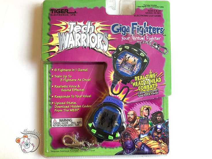 Giga Pet Tech Warrior Giga Fighters Virtual Pet Tiger 1997