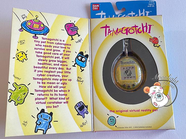 Tamagotchi Original Gen 2 P2 English Transparent Yellow Bandai 1997