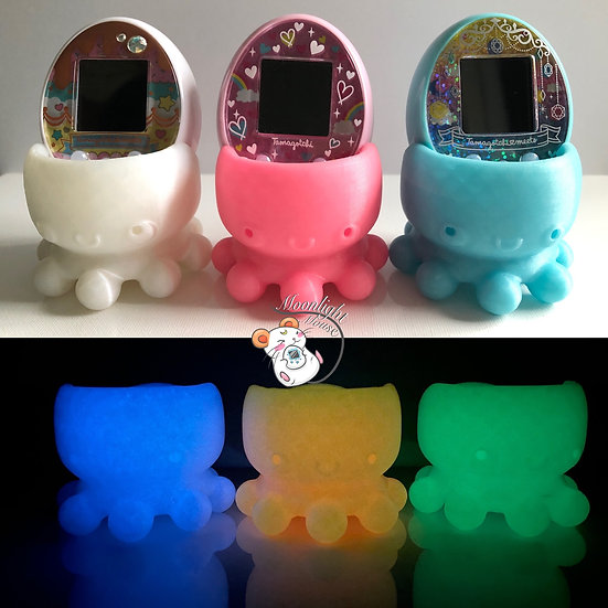 Tamagotchi P's iD L M!x Meets On Connection Glow in the Dark Octopus Stand