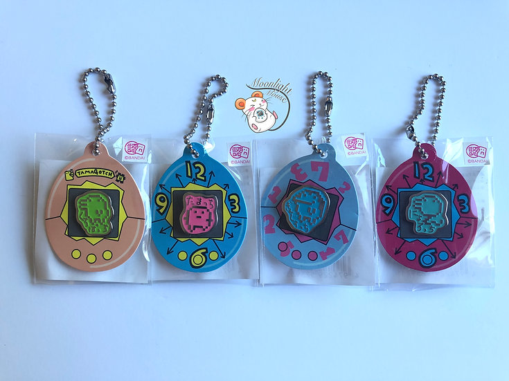 Tamagotchi Original Vintage Character Pin Charm Pink Blue Green Orange 1998