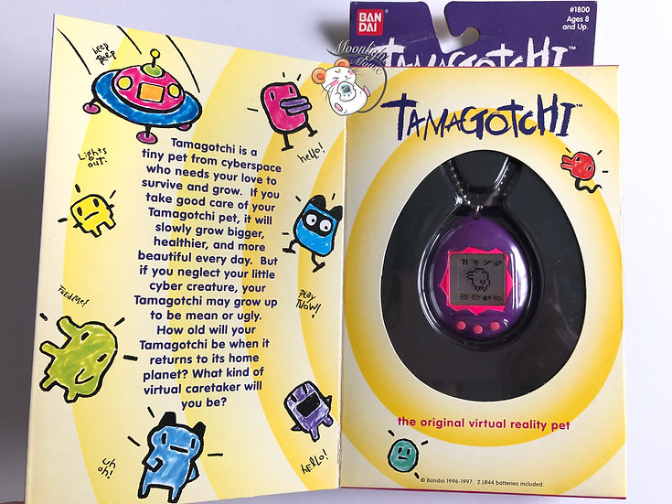 Tamagotchi Original Gen 1 P1 English Purple Pink Shell 1997