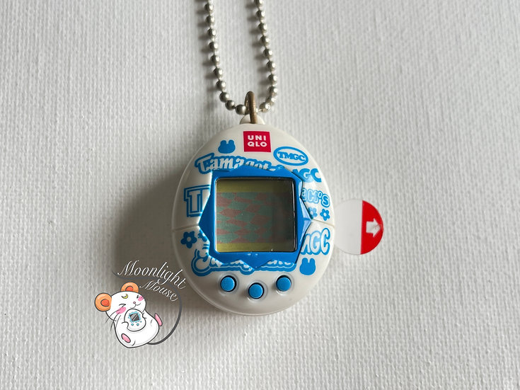 Tamagotchi Original Chibi Uniqlo Blue White Bandai Japan 2005