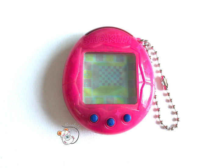 Tamagotchi Connection V1 Plus Transparent Pink Shakiin! TMGC Bandai Japan 2004