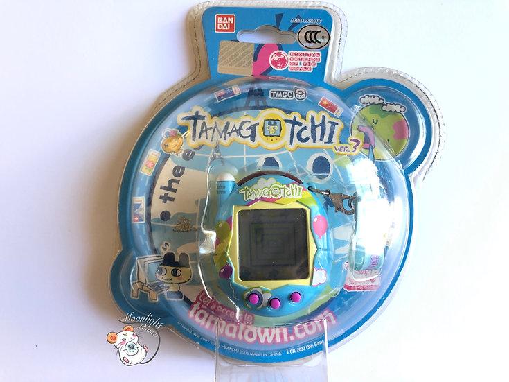 Tamagotchi Connection v3 Blue Balloon English Asia 2005