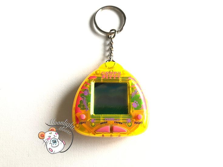 Compu Kitty Transparent Yellow Tamagotchi Virtual Giga Pet 1997
