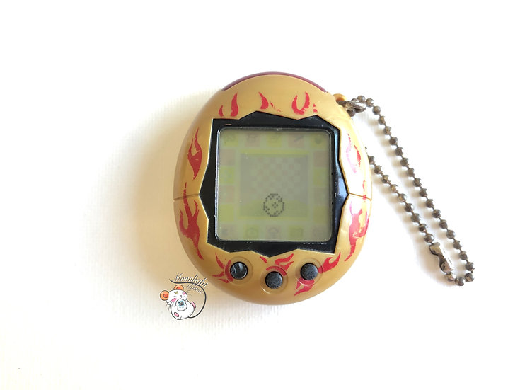 Tamagotchi Connection v2 English Gold Flames Australia Shell 2005 (READ)