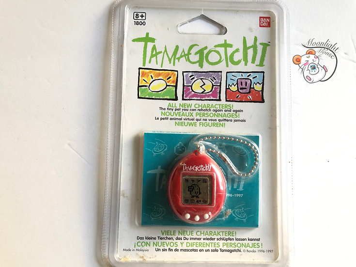 Tamagotchi Original English Gen 2 P2 Solid Red Europe Vintage 1997